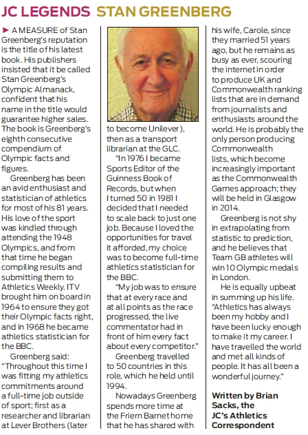 Stan Greenberg, JC Legend - JC 27-07-1202